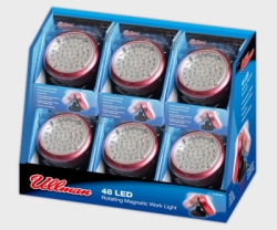 ULLMAN 48 LED Rotating Magnetic Work Light  6-Pack