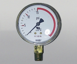 WIKA Gauge 2,5 Inch 30 PSI Single